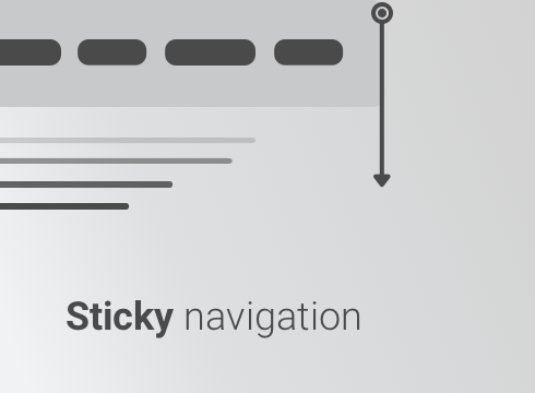 Sticky Navigation - Adobe Muse CC Widget