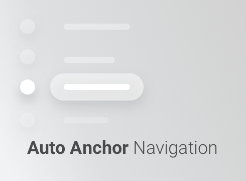 Auto Anchor Navigation - Adobe Muse CC Widget