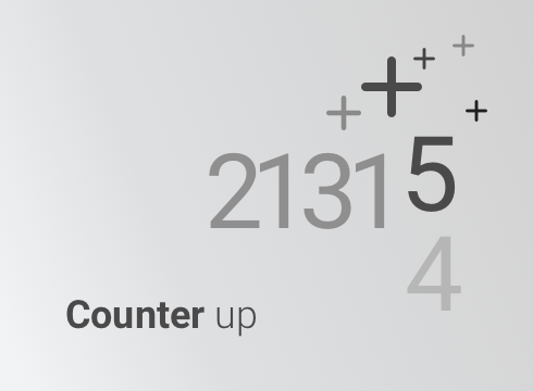 Counter up - Adobe Muse CC Widget